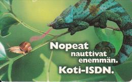 FINLAND(chip) - Chameleon, Koti-ISDN, HPY Telecard, CN : HPY 000165, Tirage 10000, 08/98, Used - Finnland