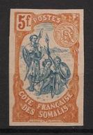 Côte Des Somalis - 1902 - N°Yv. 52a - Guerriers 5fr - Non Dentelé - Neuf Luxe ** / MNH / Postfrisch - Côte Française Des Somalis (1894-1967)
