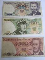 POLAND 50 ZLOTYCH 1975, 100 AND 200 ZLOTYCH 1976 - Polonia
