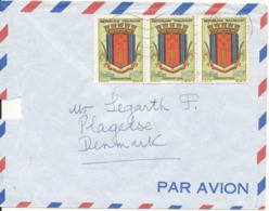Madagascar Air Mail Cover Sent To Denmark 1964 Topic Stamps (The Cover Is Damaged In The Left Side) - Madagaskar (1960-...)