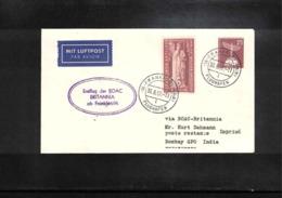 Aviation 1957 BOAC First Flight Frankfurt - Bombay - Briefe U. Dokumente