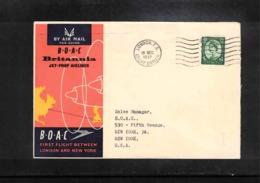 Aviation 1957 BOAC First Flight London - New York - Briefe U. Dokumente
