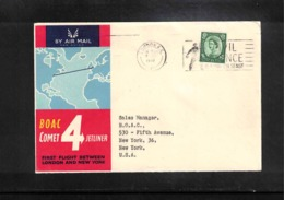 Aviation 1958 BOAC First Flight London - New York - Briefe U. Dokumente