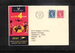 Aviation 1959 BOAC First Flight London - Tokyo - Briefe U. Dokumente