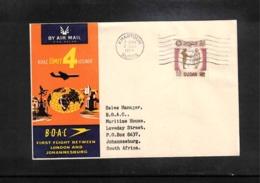 Aviation 1959 BOAC First Flight London - Johannesburg ( Khartoum - Johannesburg) - Briefe U. Dokumente