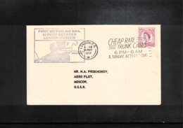 Great Britain 1959 First British Air Mail Service Between London - Moscow - Briefe U. Dokumente