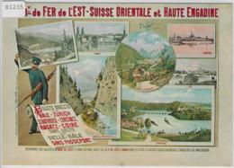 Plakat Für Chemin De Fer De L'Est-Suisse Orientale Et Haut Engadin (Repro) - GR Grisons