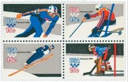 VERINIGTE STAATEN ETATS UNIS USA 1979 WINTER OLYMPIC GAMES ISSUE P.11X10½  BLOCK 4V MNH SC 1795-98 YV 1263-66 MI 1411-14 - Neufs