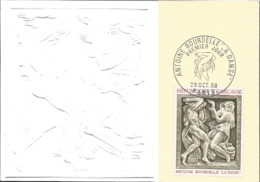 J) 1968 FRANCE, ANTOINE BOURDELLE THE DANCE, POSTCARD - Other