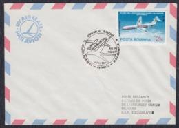 Romania 1978 First Flight Bucarest - Arad - Beograd, Airmail Letter - Cartas