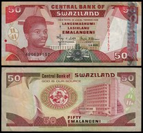 SWASILAND - SWAZILAND 50 Emalangeni 2001 VF/XF (2/3) Pick 31  (23994 - Banconote