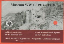 Passo Falzarego - Valparola - Museo Della I Guerra Modiale - Tre Sassi - Biglietto D'ingresso - Usato - Tickets - Vouchers