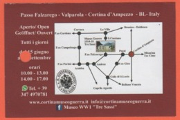 Passo Falzarego - Valparola - Museo Della I Guerra Modiale - Tre Sassi - Biglietto D'ingresso - Usato - Biglietti D'ingresso