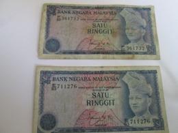 MALAYSIA, 2 X 1 RINGGIT PICK 13-18, 1976 - Malaysia
