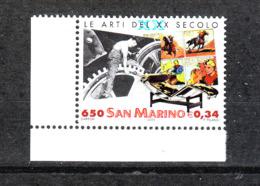 San Marino - 2000. Secolo Del Cinema ( Chaplin ),  Fumetti. Design. MNH - Fabbriche E Imprese
