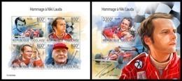 TOGO 2019 - N. Lauda, Ferrari, M/S + S/S. Official Issue - Cars
