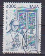 ITALia 1997 CENTENARIO DELLA NASCITA DI PAPA PAOLO VI SASS- 2316 USATO VF - 6. 1946-.. Repubblica