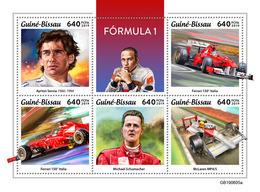 GUINEA BISSAU 2019 - Formula 1: Ferrari, McLaren. Official Issue - Cars