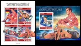 GUINEA 2019 - M. Schumacher, Ferrari. M/S + S/S. Official Issue [GU190319] - Cars