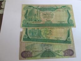 LIBYA ONE QUARTER, ONE HALF AND ONE DINAR 1981 - Libië
