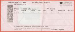 Biglietto Aereo TAP Air Portugal - Lisbon - Venice - TP863 - 2019 - Europe