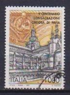 ITALia 1997 CONSACRAZIONE DELLA CHIESA DELLA CEROSA DI PAVIA SASS. 2275 USATO VF - 6. 1946-.. Repubblica