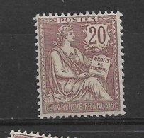 FRANCE MOUCHON N° 126 * NEUF AVEC CHARNIERE - 1900-02 Mouchon