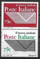 ITALia 1994 POSTE ITALIANE SASS. 2134-2135 USATA VF COPPIA UNITA - 6. 1946-.. Repubblica