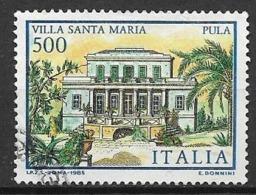 ITALia 1985 LE VILLE D'ITALIA SASS. 1734 USATO VF - 6. 1946-.. Repubblica