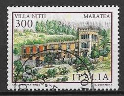 ITALia 1985 LE VILLE D'ITALIA VILLA NITTI SASS. 1732 USATO VF - 6. 1946-.. Repubblica