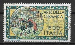 ITALIA 1985 IL LAVORO ITALIANO PER IL MONDO SASS. 1705 USATO VF - 6. 1946-.. Repubblica