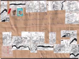 Argentina - 2013 - Lettre - Timbres Commémorant La Révolution De Mai De 1810 - Briefe U. Dokumente