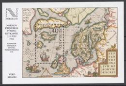 Iceland 1984 Mi# Bl.6** NORDIA '84 INTERNATIONAL STAMP EXHIBITION, MAP OF NORTHERN EUROPE 1570 - Neufs