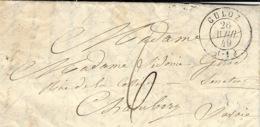 1949 - Lettre De CULOZ ( Ain ) Cad T15 Taxe 6 Manuscrite Pour Chambéry ( Duché De Savoie ) - Marcofilia (sobres)