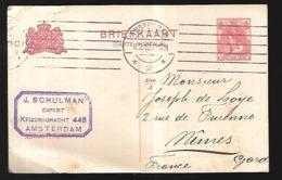 Pays Bas Entier De 1912 De Amsterdam  Pour Nîmes - Ganzsachen