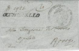 Lombardia-Veneto- Circa 1840- Lettre De OCCHIOBELLO  Nero Vollmeier N° 2 - Italia