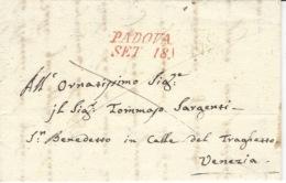 Lombardia-Veneto-  1836- Lettre De Padova Rosso Vollmeier N°19  Pour Venezia - Italia