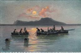Thematiques Italie Napoli Serie Artistica Acquarello N° 65 Pescatori  Pêcheurs Timbré Cachet - Napoli (Naples)