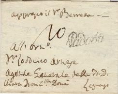 Lombardia-Veneto-  1823- Lettre De Padova  Vollmeier N°11  Taxe 10 Encre - Italia