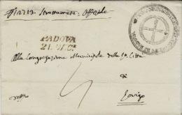 Lombardia-Veneto-  1837- Lettre De Padova / 21. DIC. Nero  Vollmeier N°19 - Italia