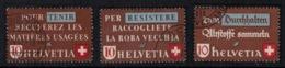 Suisse // Schweiz // Switzerland //  1940-1949 // Récupération Des Matières Usagées 1942 No. 254-256 Oblitéré - Usados