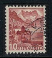 Suisse // Schweiz // Switzerland //  1940-1949 // Château De Chillon 1942 No. 257 Oblitéré (brun-rougeâtre) - Usados