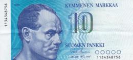 Finlande - Billet De 10 Markkaa - Paavo Nurmi - 1986 - Finlandia