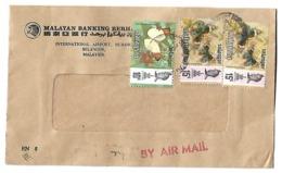 MALAYSIA Airmail 1971 BUTTERFLIES - FLOWERS - Malaysia (1964-...)