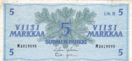 Finlande - Billet De 5 Markkaa - 1963 - P106Aa - Finlandia