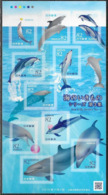 JAPAN, 2019, MNH, MARINE LIFE, DOLPHINS,  SHEETLET - Delfines
