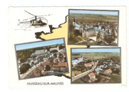 HUISSEAU SUR MAUVES DANS LE LOIRET CARTE MULTIVUES     CPA  CIRCULEE - France