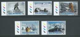Ross Dependency 2006 New Zealand Antarctic Programme Anniversary Set 5 Matched Marginal Singles MNH - Unused Stamps