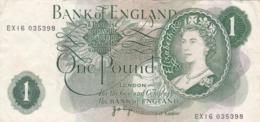Royaume-Uni - Billet De 1 Pound - Elizabeth II - 1952-… : Elizabeth II