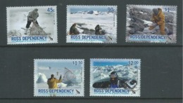 Ross Dependency 2006 New Zealand Antarctic Programme Anniversary Set 5 MNH , Small Gum Knocks - Unused Stamps
